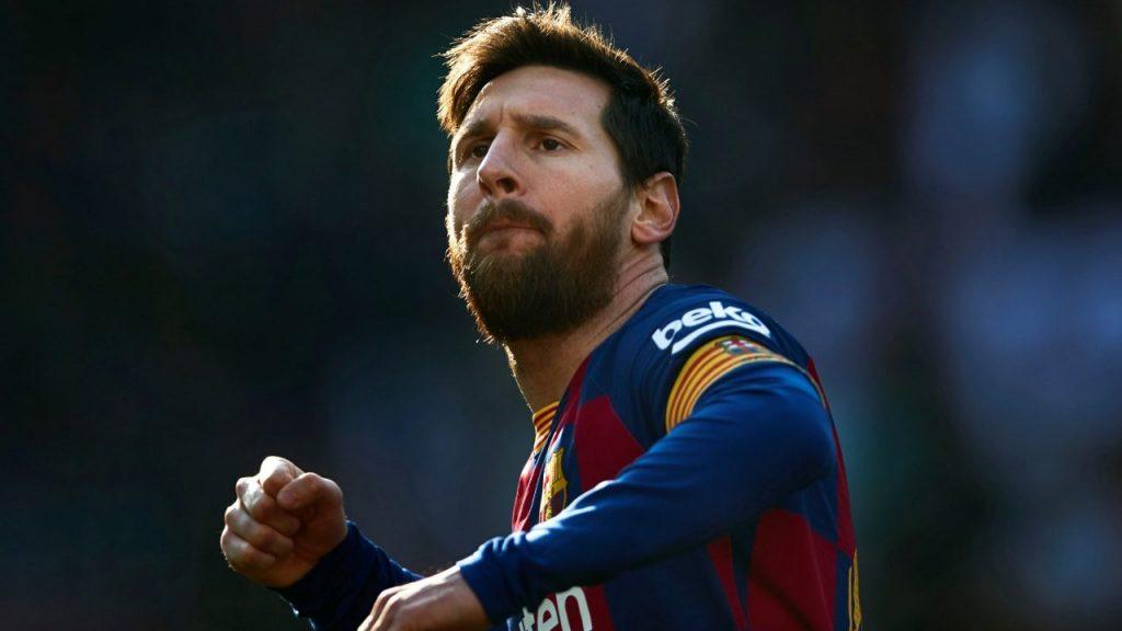 Lionel Messi celebra uno de sus cuatro goles ante Eibar. (Foto: EFE)