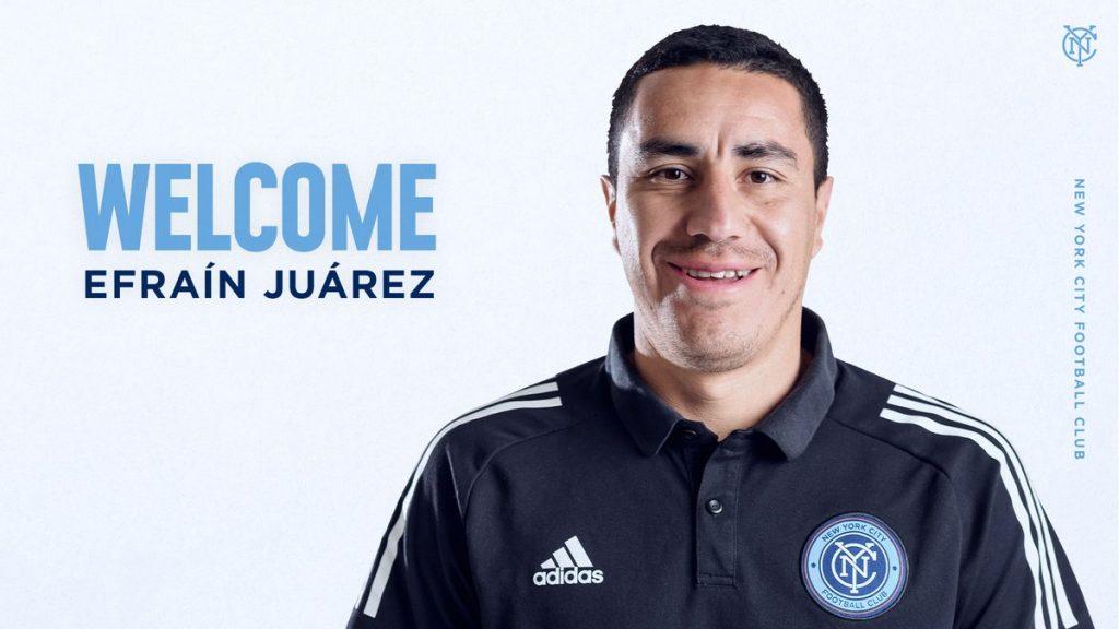 El NYCFC anunció la llegada de Juárez. (Foto: Twitter)