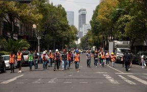 Protección Civil pide mantener distanciamiento social en caso de sismo