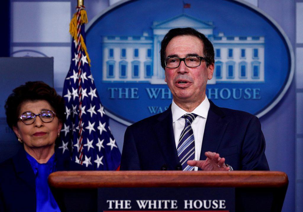 Steven Mnuchin afirmó que esta semana podrían alcanzar un acuerdo el Gobierno y el Congreso para enfrentar el Covid-19