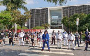 Manifestantes en Sao Paulo exigieron la reapertura de gimnasios en Sao Paulo.