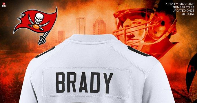El jersey de Tom Brady con los Buccaneers arrasa en ventas. (Foto: NFL Shop)