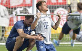 Philippe Coutinho trabaja con el Bayern Munich. (Foto: EFE)