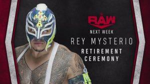 La WWE anunció la ceremonia de retiro de Rey Mysterio.