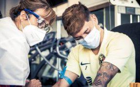 Los jugadores del América se presentaron a pruebas médicas. (Foto: Club América)