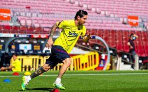 Messi volvió a entrenar por separado con el Barcelona.