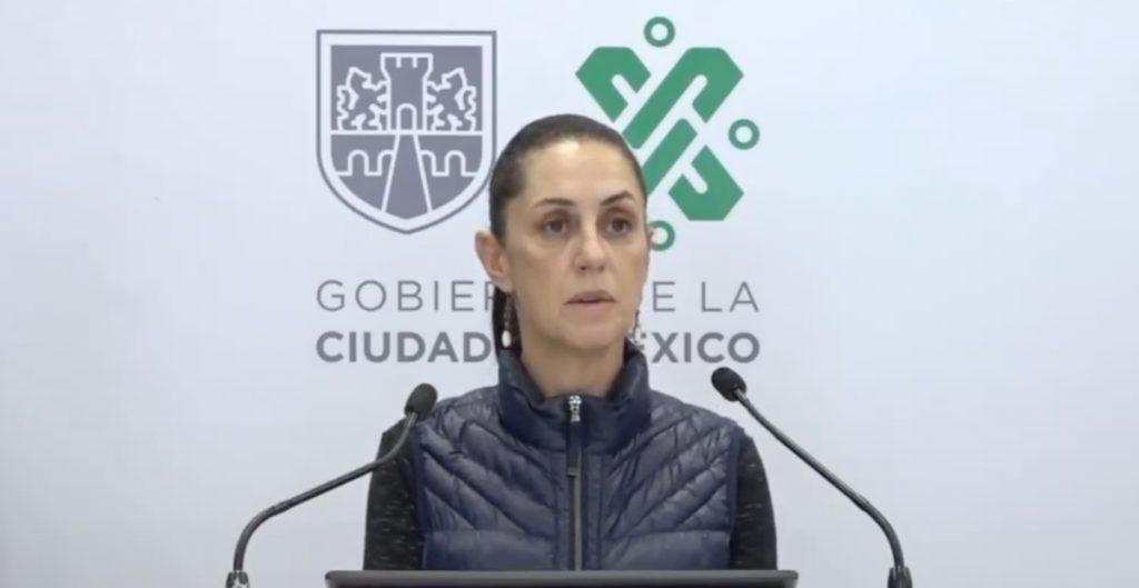 Claudia Sheinbaum, jefa de gobierno de la CDMX.