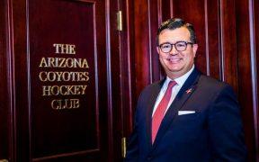 Xavier A. Gutiérrez, nuevo presidente y CEO de los Coyotes de Arizona.