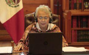 Sánchez Cordero dijo no estar de acuerdo con la eliminación del fuero presidencial.