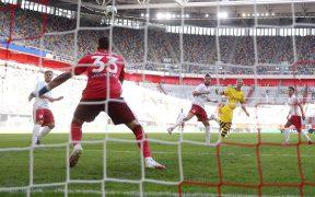 Haaland remató con la cabeza para el triunfo del Dortmund. (Foto: EFE)