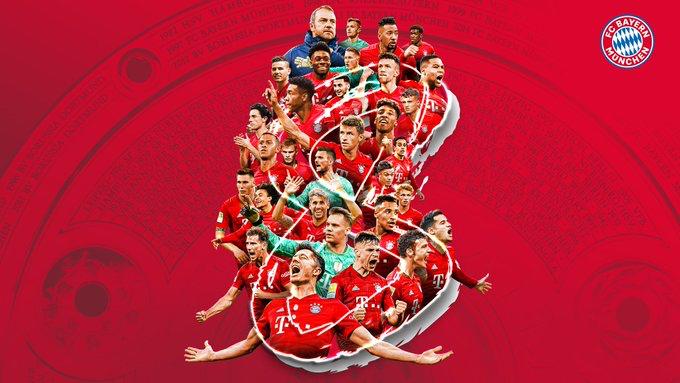 El Bayern Munich festejó su octavo título consecutivo de la Bundesliga.