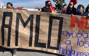 os manifestantes reclamaron al presidente y al gobernador su falta de atención. Foto: Twitter