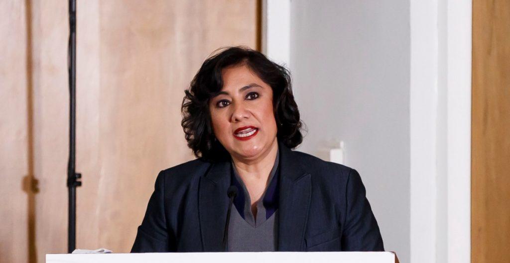 La secretaria Irma Eréndira Sandoval. Foto: EFE