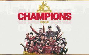 El Liverpool es campeón de la Premier League.