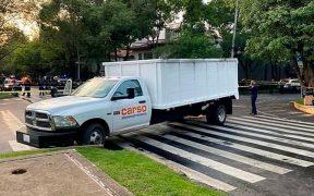 Supuesta camioneta de Carso utilizada en atentado