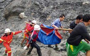 Deslave en mina de jade. Foto: EFE