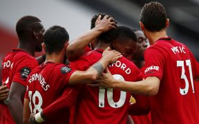 El Manchester United celebra la goleada 5-2 sobre Bournemouth. (Foto: EFE)