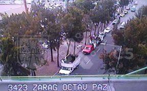 Manifestantes en calzada Ignacio Zaragoza