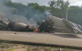 Aeronave aterriza de emergencia en Quintana Roo
