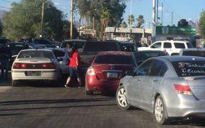 Residentes de Sonoyta bloquean el paso en la frontera con Estados Unidos