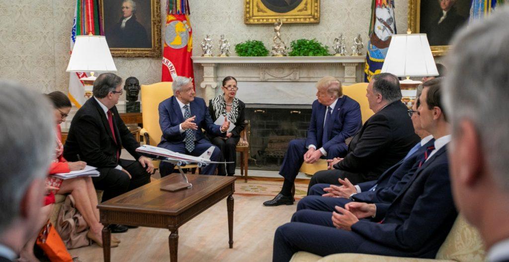 AMLO y Trump en la Casa Blanca
