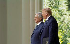 López Obrador y Donald Trump en la Casa Blanca