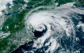 Tormenta tropical Fay toca tierra en Nueva Jersey