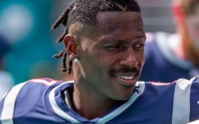 Antonio Brown vivió una corta etapa con los Patriots.