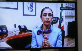 Oliva López, secretaria de Salud de la CDMX