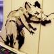 Rata de Banksy en metro de Londres