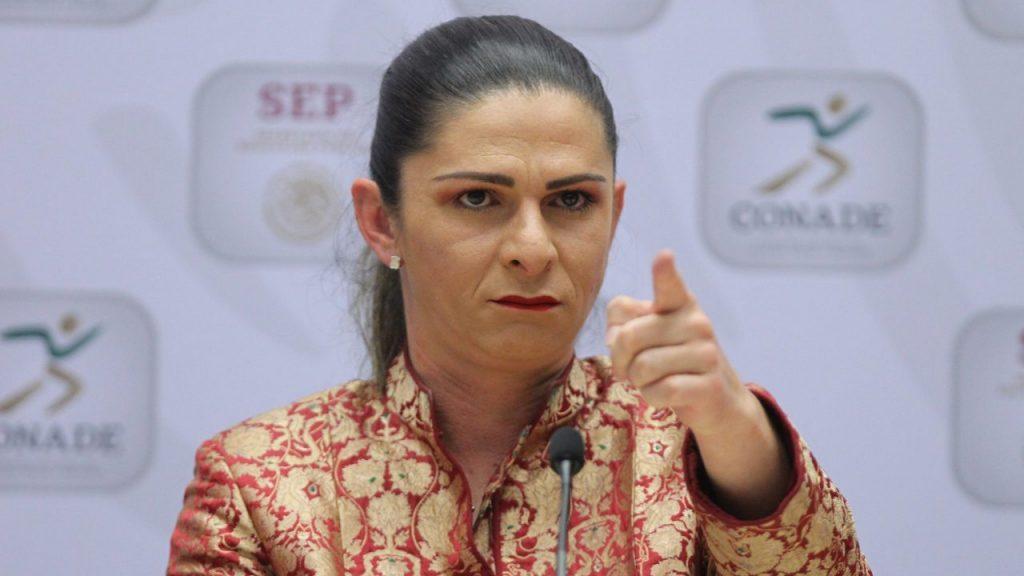 Ana Guevara, titular de la Comisión Nacional de Cultura Física y Deporte. (Foto: EFE)