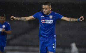 Jonathan Rodríguez celebra su primer gol del torneo. (Foto: Mexsport)