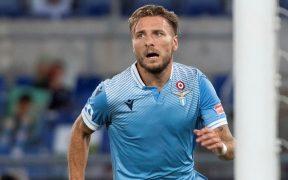 Ciro Immobile festeja su gol 35 de la temporada con la Lazio. (Foto: EFE)