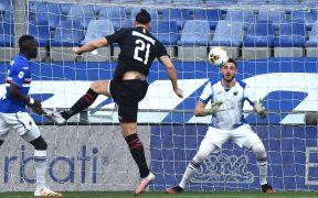 Ibra marcó su primer gol a la Sampdoria al minuto 3. (Foto: EFE)