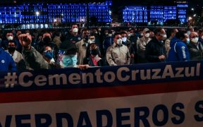 Miembros de la cooperativa Cruz Azul protestan por el caso Billy Álvarez