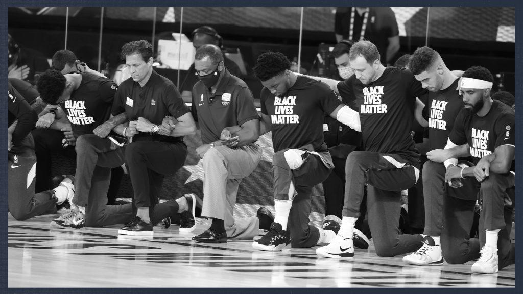 Todos los presentes en el juego de Jazz y Pelicans se arrodillaron. (Foto: @utahjazz)