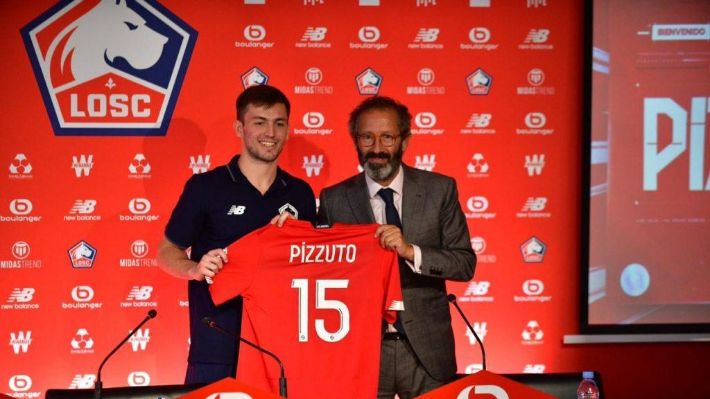 Pizzuto, durante su presentación oficial con el Lille. (Foto: losc.fr)