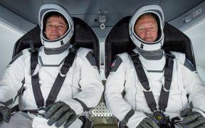 Los astronautas de la NASA Bob Behnken y Doug Hurley
