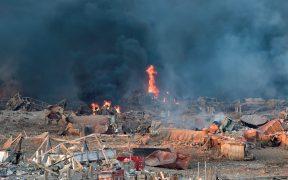 Al menos 25 muertos y 2 mil 500 heridos por explosión en Beirut