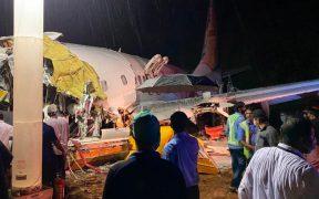 Avionazo en la India ha dejado hasta ahora 14 muertos y más de 100 heridos