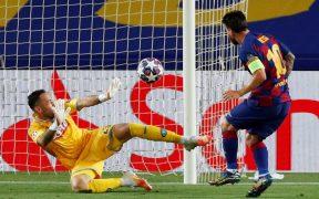 Messi venció a Ospina con una gran jugada individual. (Foto: Reuters)