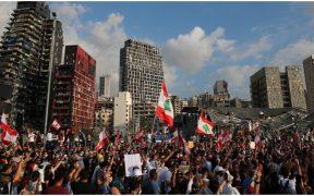 Manifestantes se reunieron en el centro de Beirut por cuarto día al hilo