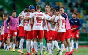 Leipzig celebra su pase a Semifinales de la Champions League. (Foto: EFE)