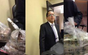 El video muestra a Rafael Jesús Caraveo Opengo y a Guillermo Gutiérrez Badillo recibiendo sobornos
