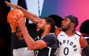 Los Raptors ganaron el primer duelo de playoffs ante los Nets. (Foto: EFE)