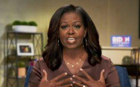 El mensaje más esperado de la noche vino de Michelle Obama