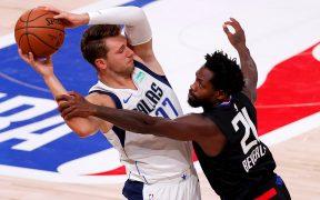 Pese al récord de Doncic, los Mavericks cayeron ante Clippers. (Foto: EFE)