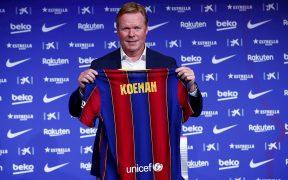 Ronald Koeman, en su presentación oficial como técnico del Barcelona. (Foto: EFE)