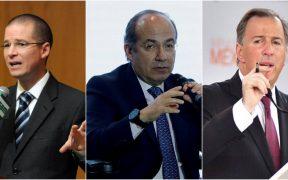 Venganza, escándalo, y mentiras, acusan Calderón, Meade y Anaya ante denuncia de Lozoya