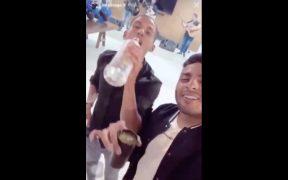 Vega subió el video a redes sociales, aunque luego lo borró. (Captura de video)